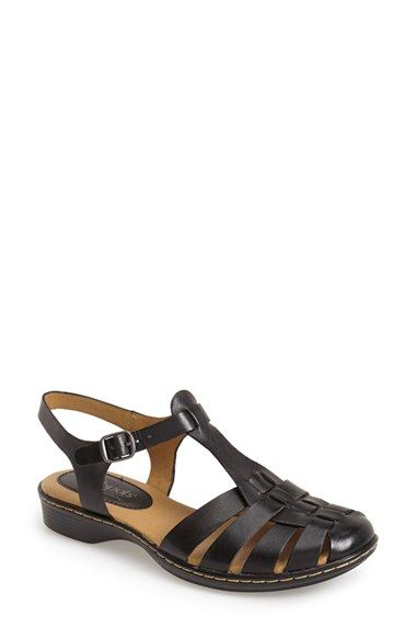 c82c303bb826 Softspots  Holly  Leather T-Strap Huarache Sandal (Women ...