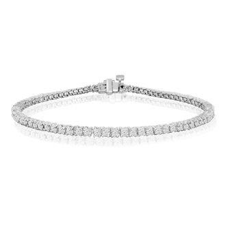 8 5 Inch 10k White Gold 2 3 8 Carat Diamond Tennis Bracelet Superjeweler Tennis Bracelet Diamond White Gold Jewelry Diamond Bracelet