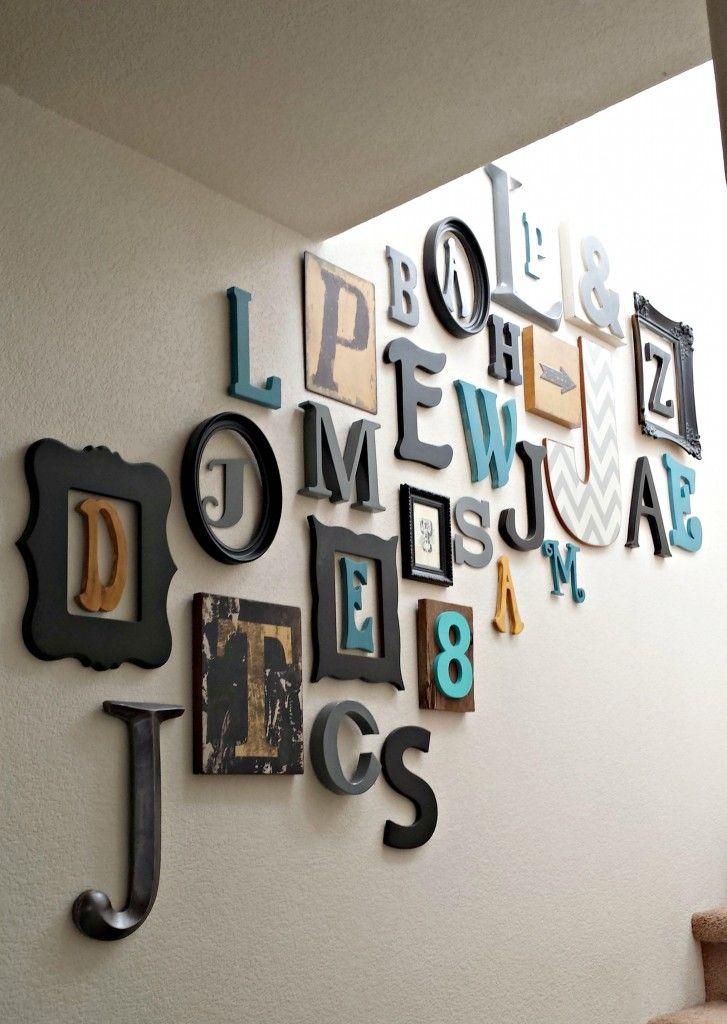 Moderne Wandgestaltung: Dekorieren mit Buchstaben & Zahlen ...