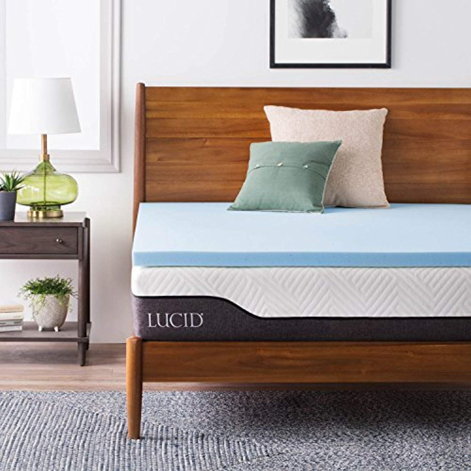 Lucid 2 Inch Gel Infused Memory Foam Mattress Topper Queen Check Out This Great Product Memory Foam Mattress Topper Foam Mattress Topper Mattress Topper