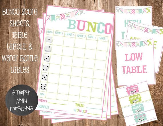 Printable Bunco Score Cards - Score Sheet Templates | Crafts