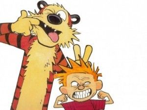 Calvin and Hobbs' statements explaining life, the universe and everything.