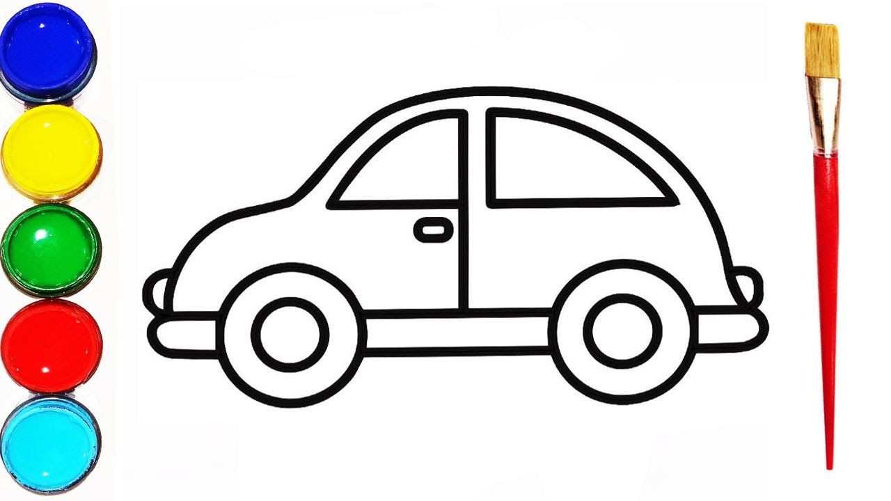 How To Draw A Car Easy Kids Drawings Car Drawing And Coloring For Kids Car Drawing Easy Toy Cars For Kids Drawing For Kids [ 720 x 1280 Pixel ]
