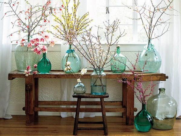 15 Floral Arrangements With Flowering Branches Spring Home Decorating Ideas