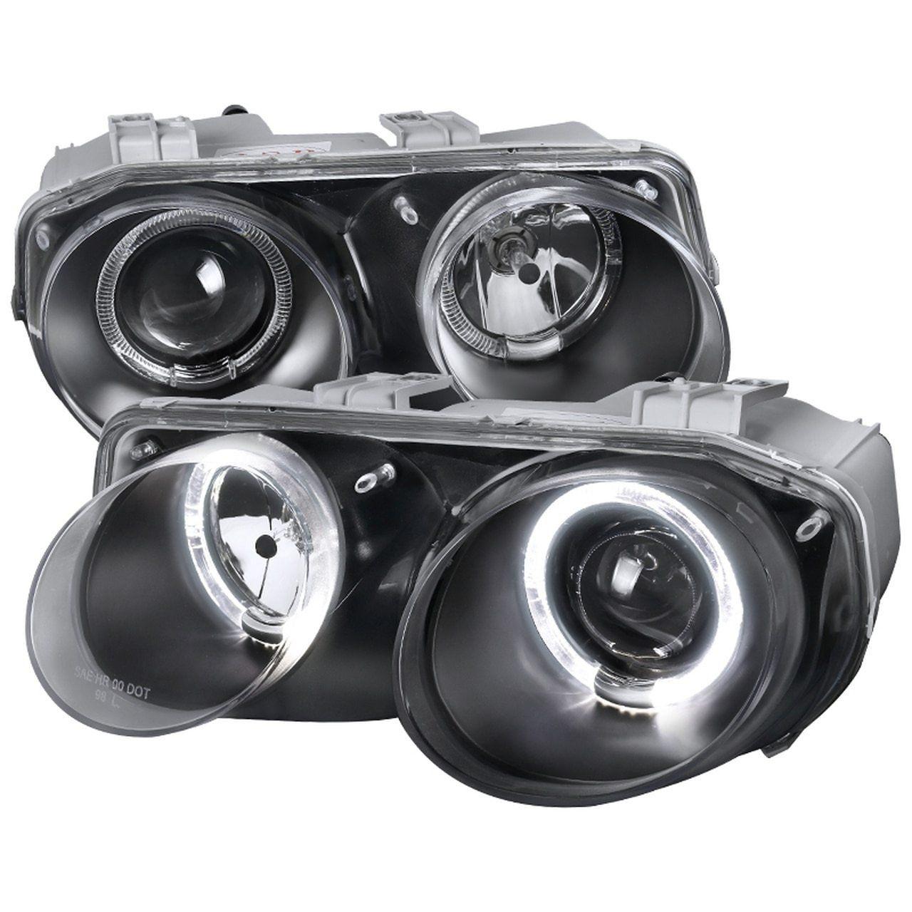Spec D Projector Headlights Acura Integra 1994 2001 Black W Halo Projector Headlights Acura Integra Acura