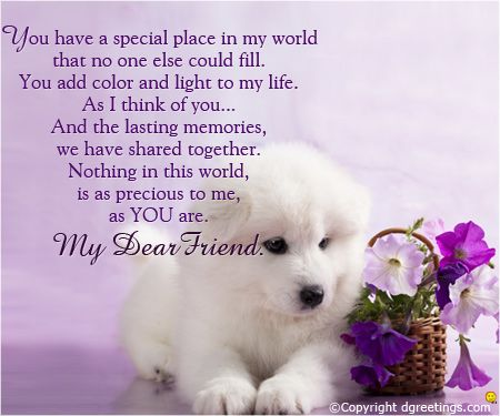 Beautiful friendship card.