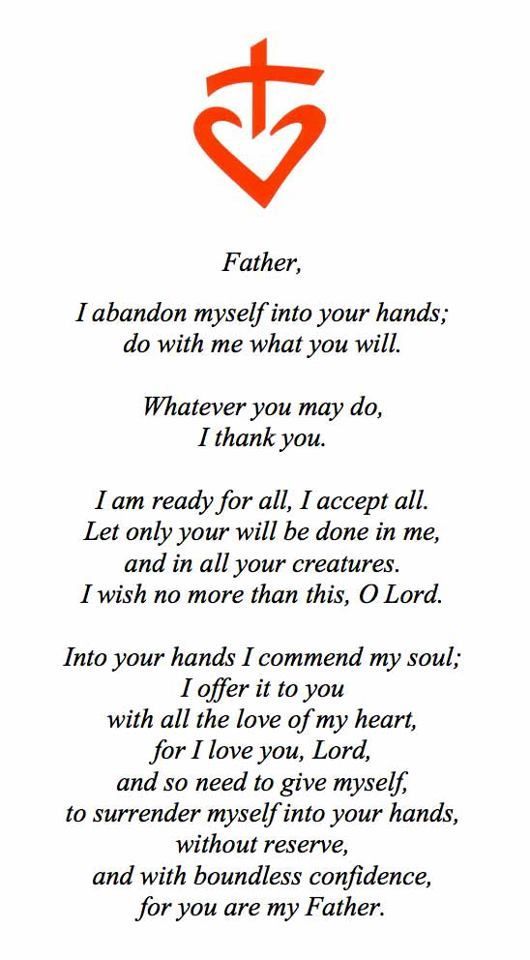Prayer Of Abandonment By Blessed Charles De Foucauld Saint Quotes Faith Quotes Catholic Prayers