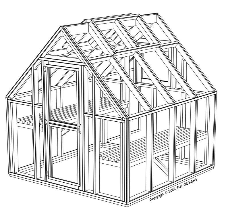 8 x 8 greenhouse plans pdf version greenhouse plans