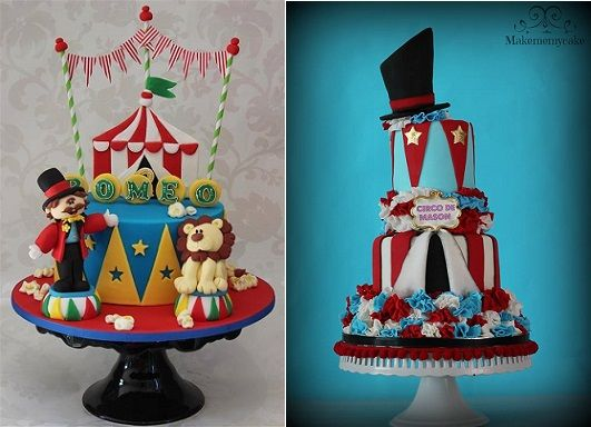 Birthday cakes & circus-cakes-by-Cake-by-Kim-NL-left-and-Make Me My Cake-right ...