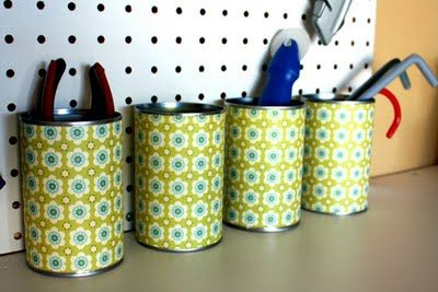 saving old formula cans to do this with for our bedroom....adding some dried babies breath too.