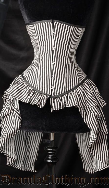 Striped Bustle Corset