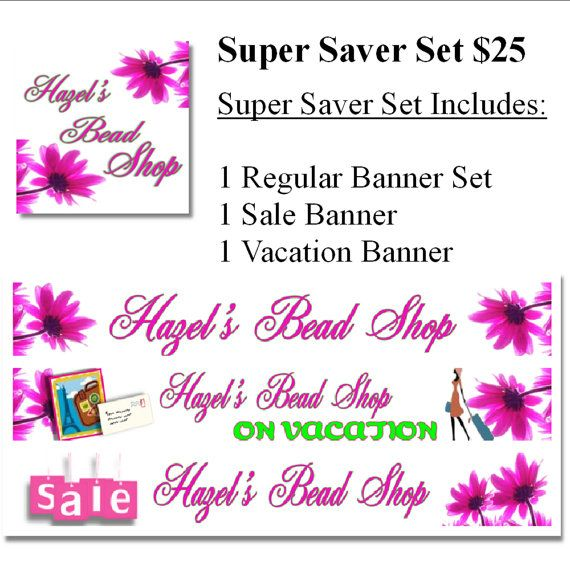 Super Saver Banner and Avatar Sets by MyHelpingHands on Etsy, $25.00