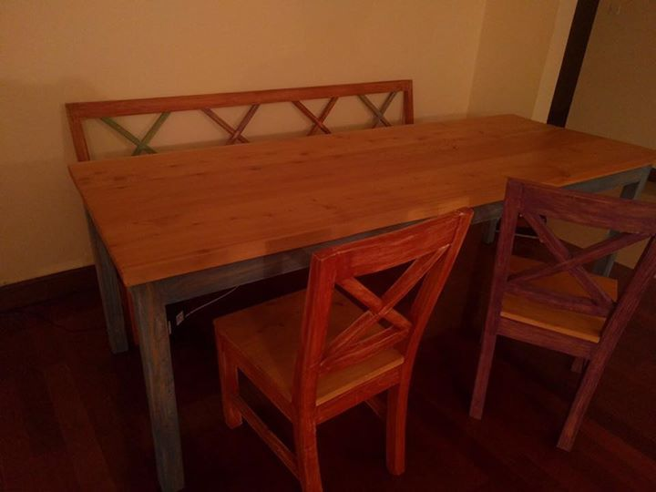 Simple Table Bench Combo Spotted In Nairobi Used Furniture Posting