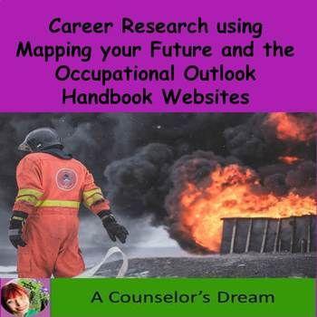 Career Research Worksheet School Counseling Stuff Pinterest