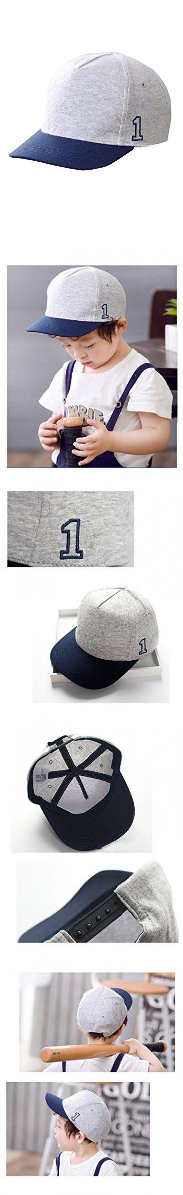 0m-4T BonjourMrsMr Baby Boys Baseball Cap,with Col No.1 Embroidery Sun Visor Kids Hat
