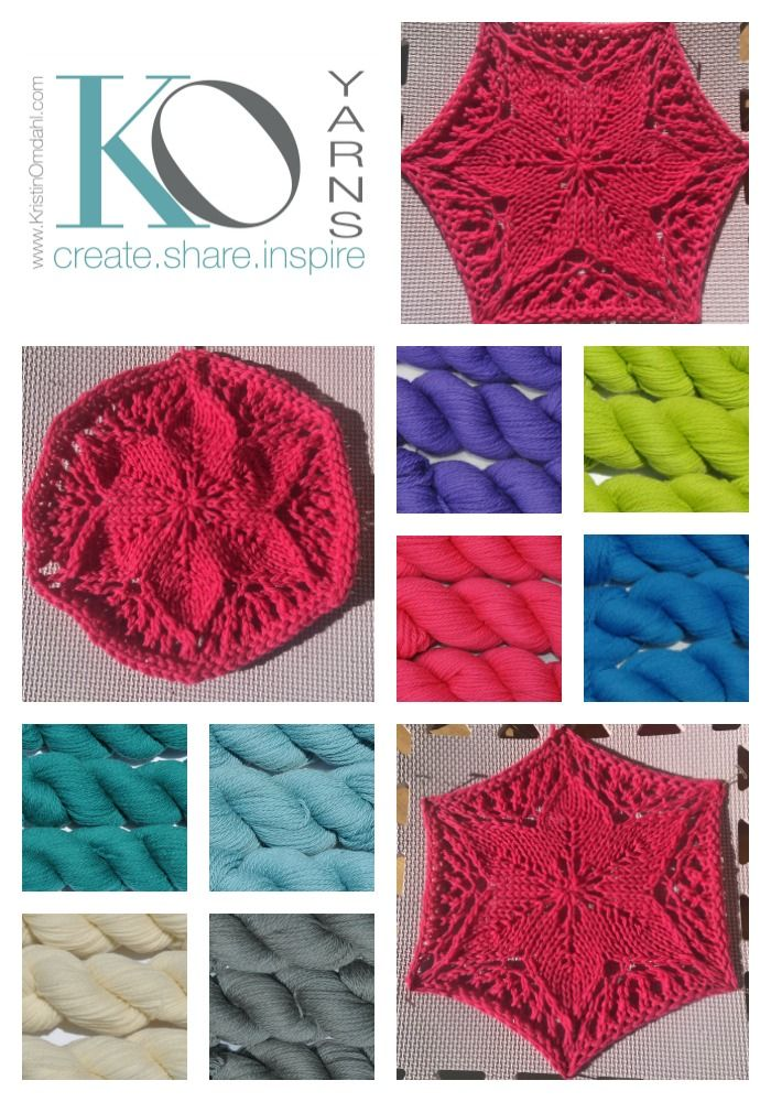 Oct 23 Six Petal Flower Knit Motif Free Pattern Crafts Knitting