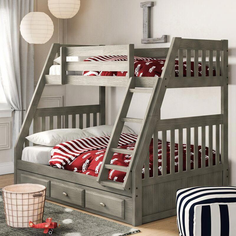 Best Birch Lane™ Heritage Willis Twin Over Full Bunk Bed With 400 x 300
