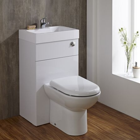 This Toilet And Basin Combination Unit Is A Great Option For A Compact Cloakroom Or En Suite Toilet And Basin Unit Space Saving Bathroom Toilets And Sinks