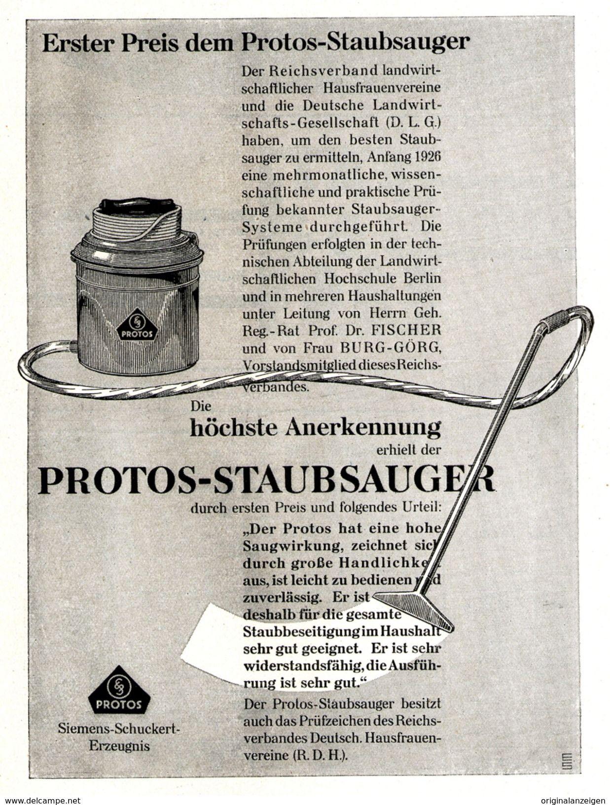 Historischer Siemens Staubsauger, Siemens Schuckert, Protos