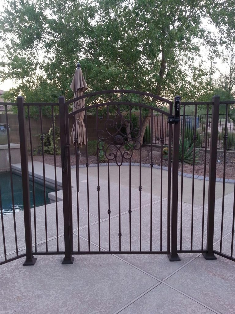 Residential Wrought Iron Pool Fencing