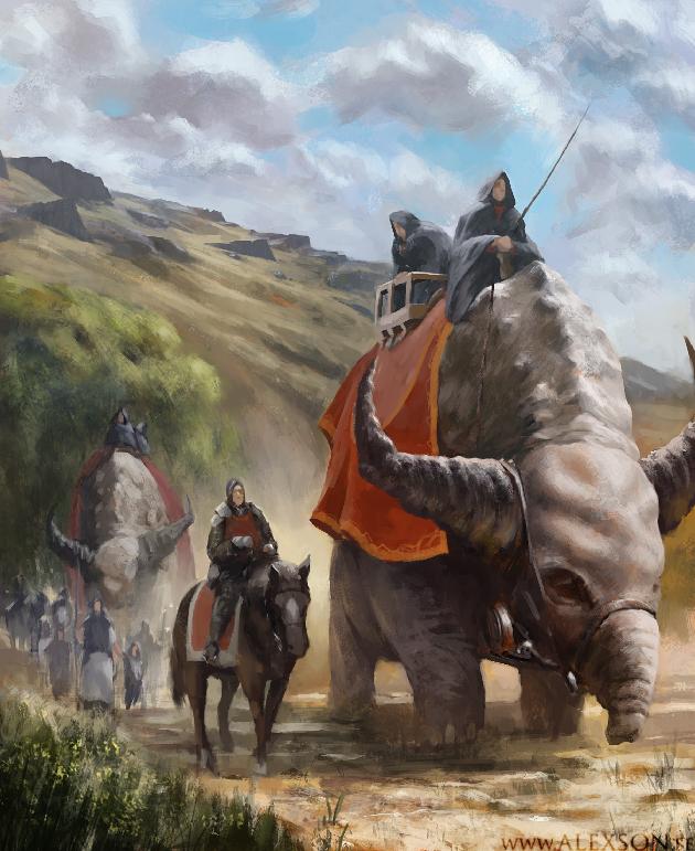 Caravan by alexson1 on DeviantArt Fantasy creatures art