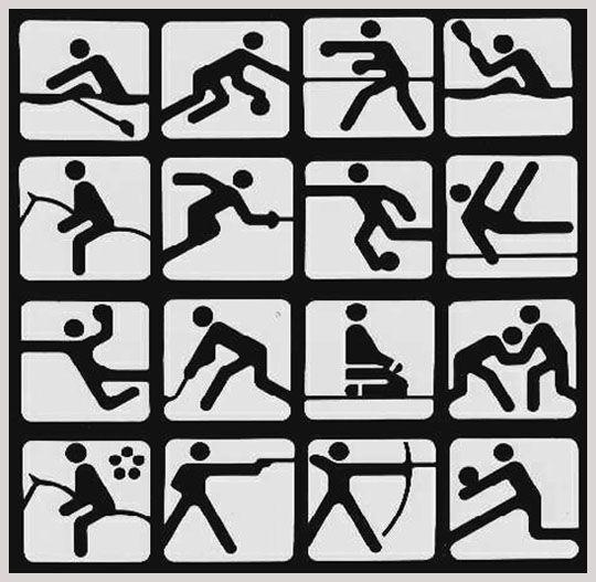часто картинки спорт схематические наиболее популярных символов