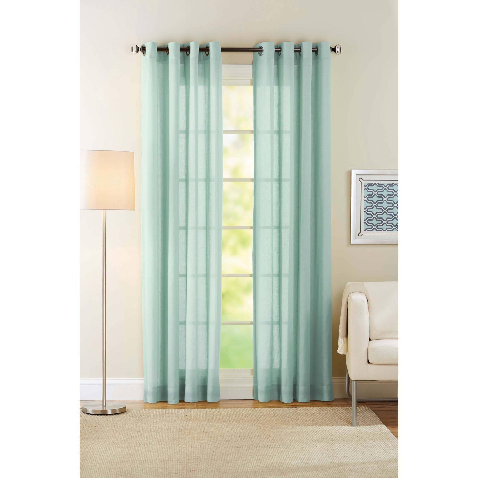 Turquoise Curtains Curtains Drapes Walmart Com Turquoise Curtains Green Sheer Curtains Sheer Curtain Panels
