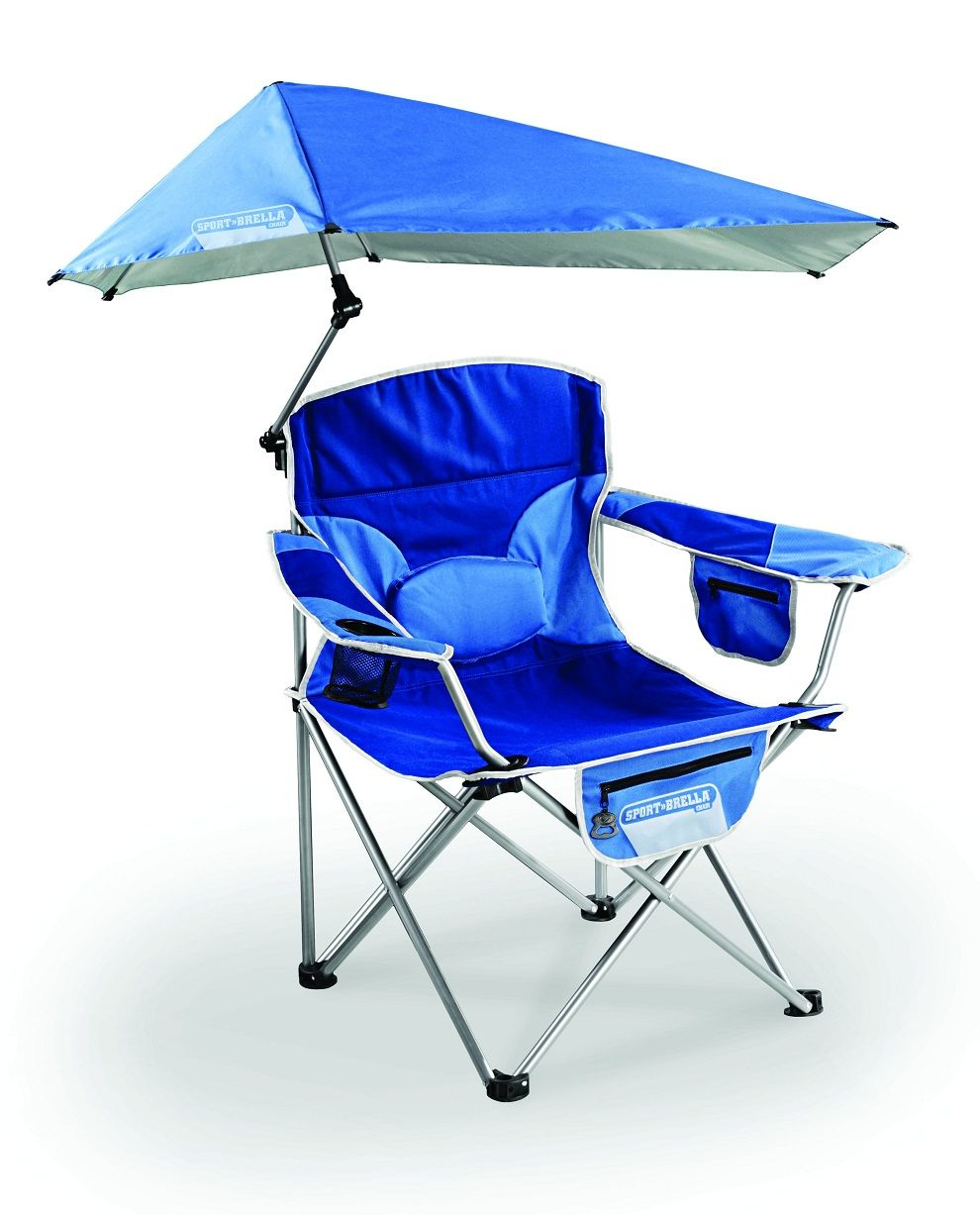 Camping chairs with umbrella - Modern Beach Chair With Umbrella Attached Beach Theme