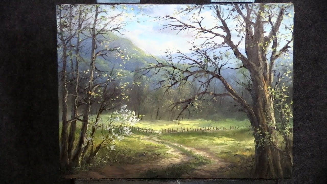 Looking Through The Trees Paint With Kevin Youtube Oil Painting Landscape Watercolor Landscape Paintings Kevin Hill Paintings
