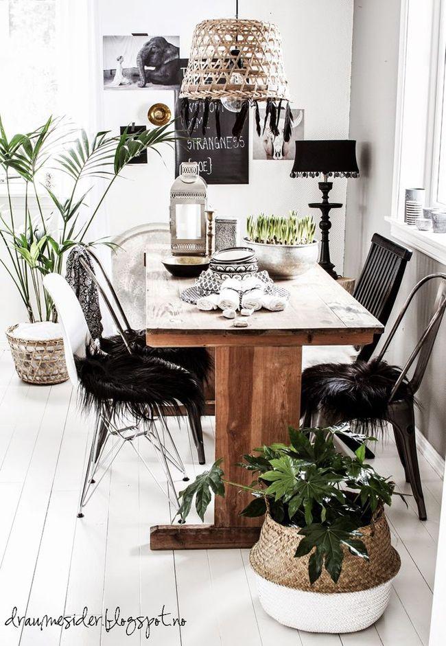 Cestas de mimbre como maceteros estilo escandinavo home kitchen dining home decor home - Maceteros de mimbre ...