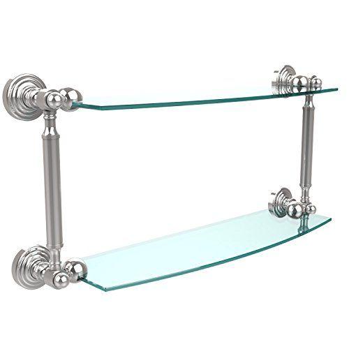 Allied Brass WP33TB24PC 24x5 Glass Shelf with Towel Bar Polished