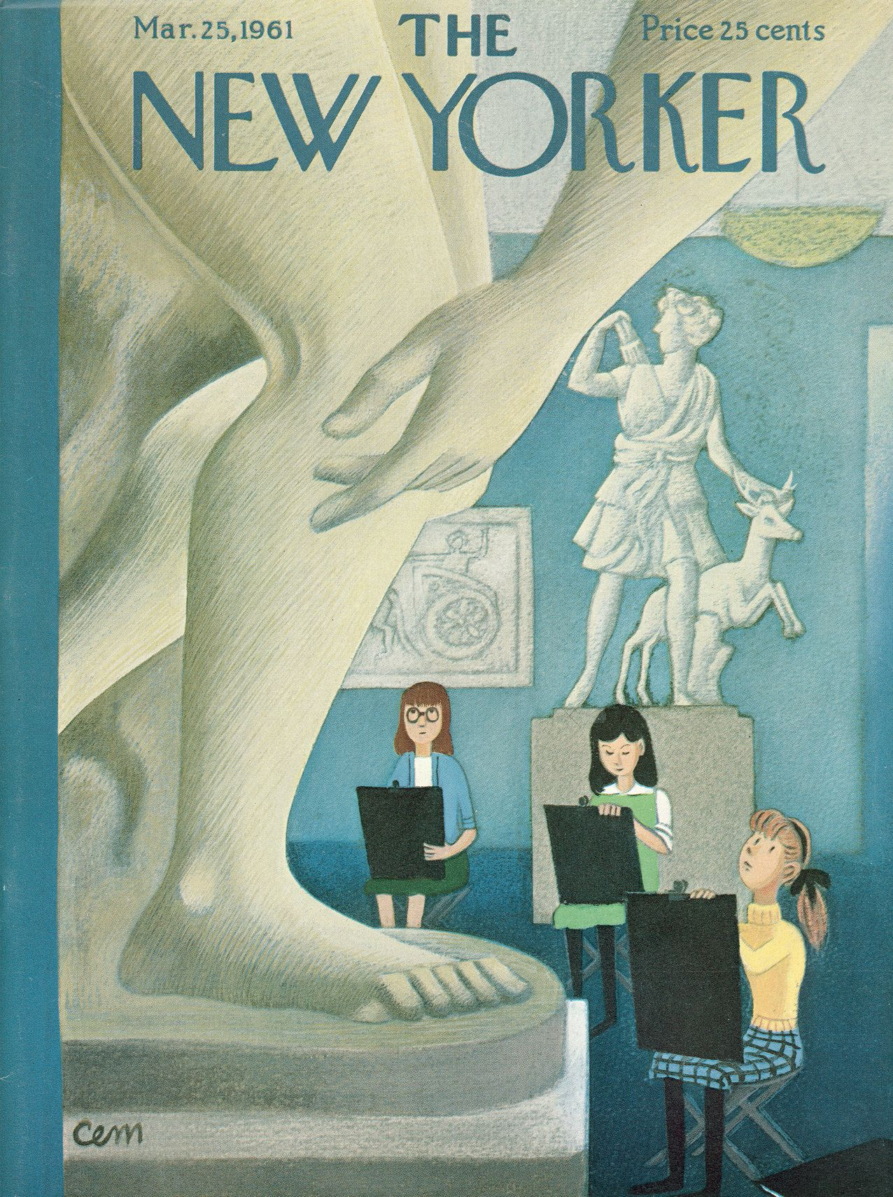 The New Yorker - Saturday, March 25, 1961 - Issue # 1884 - Vol. 37 - N° 6 - Cover by : Charles E. Martin