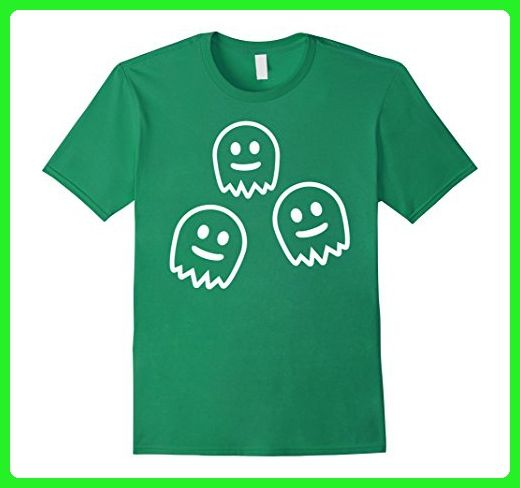 Mens Three funny monster ghosts T-Shirt Large Kelly Green - Funny shirts (*Amazon Partner-Link)