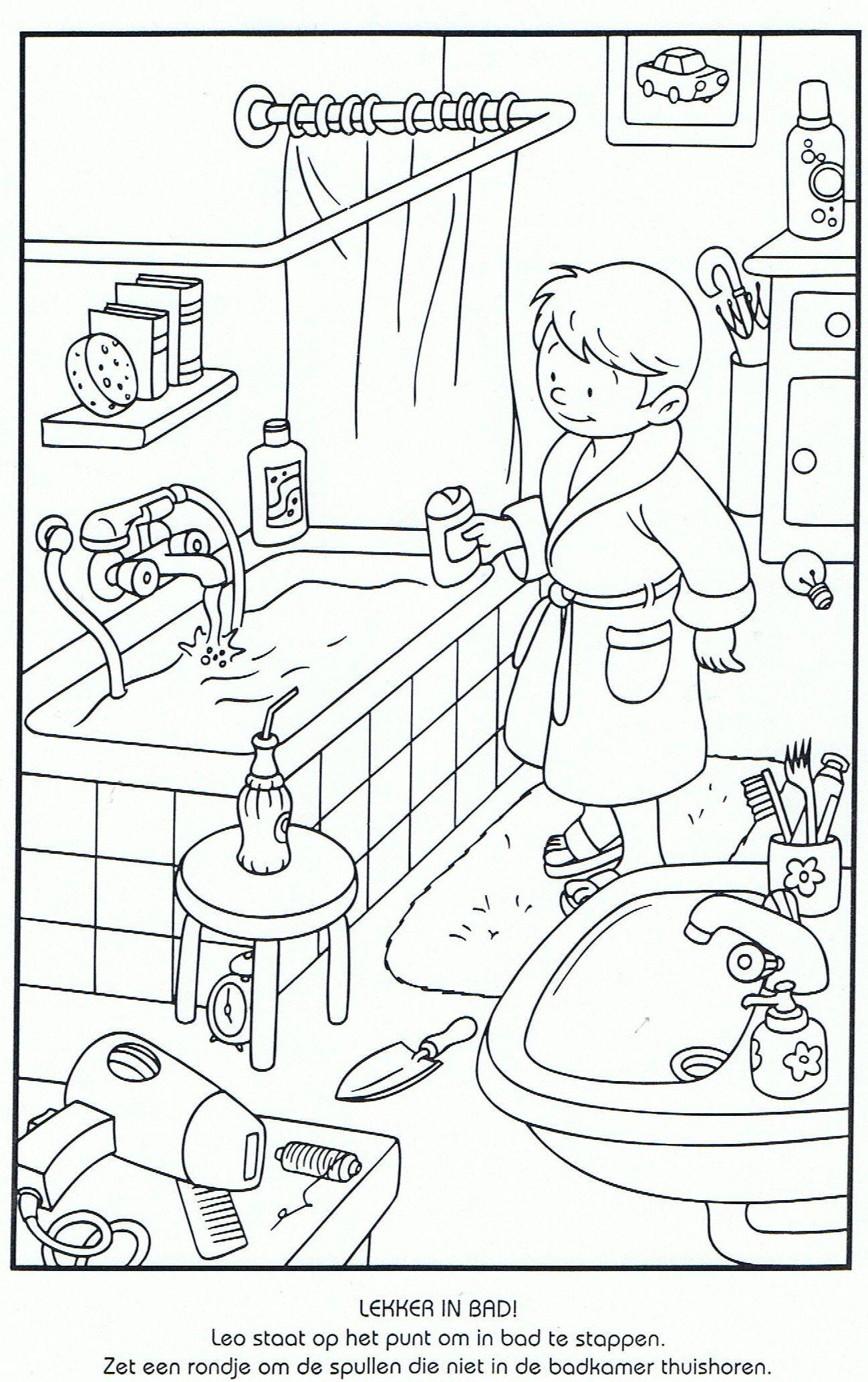 Kişisel Bakım Temizlik Sağlık Coloriage école éducation