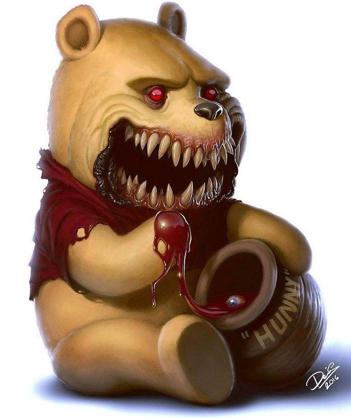 Extrêmement Des personnages de dessins animés en monstres horribles par Dennis  NL94