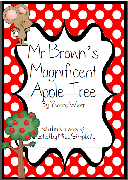 Mr Brown's Magnificent Apple Tree literacy activities