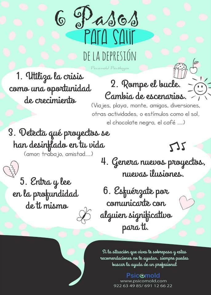6 pasos para salir de la depresi n odos tenemos - Consejos para superar la depresion ...