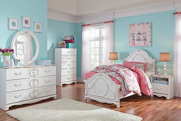 White Korabella Twin Panel Bed View 4 Sade\u0027s Room Pinterest
