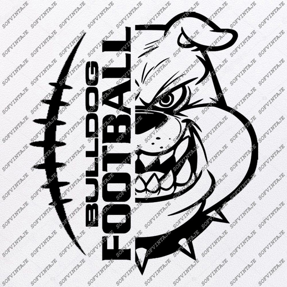 Bulldogs Football Svg Files Bulldogs Svg Football Svg