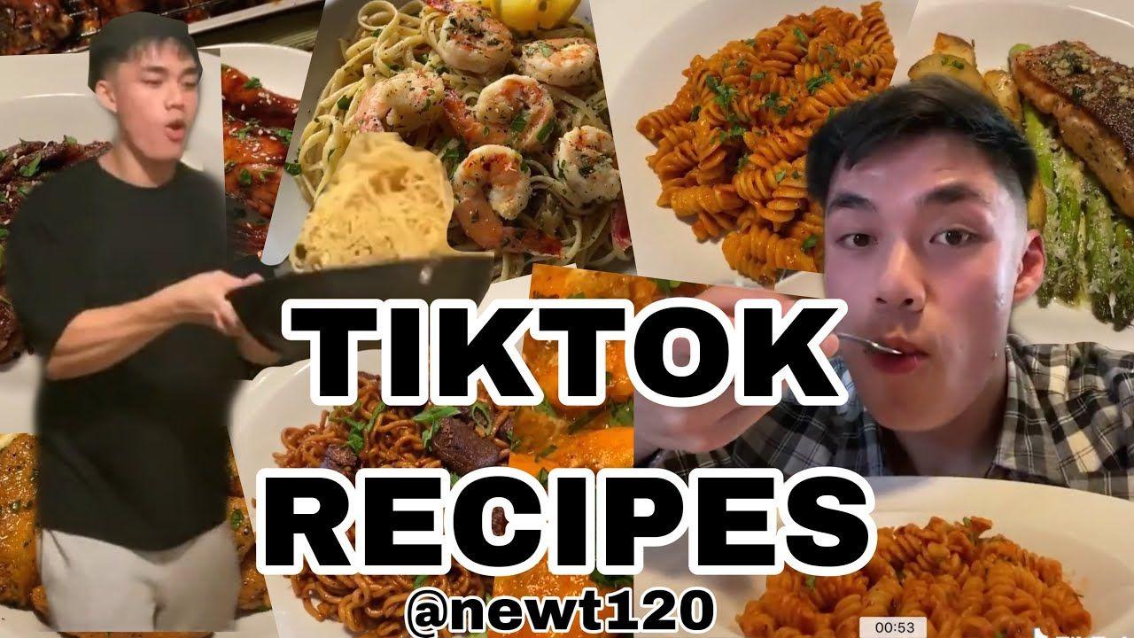 Newt120 Recipes Tiktok Compilation Mlktpapi Part 1 Recipes Food Shrimp Pasta