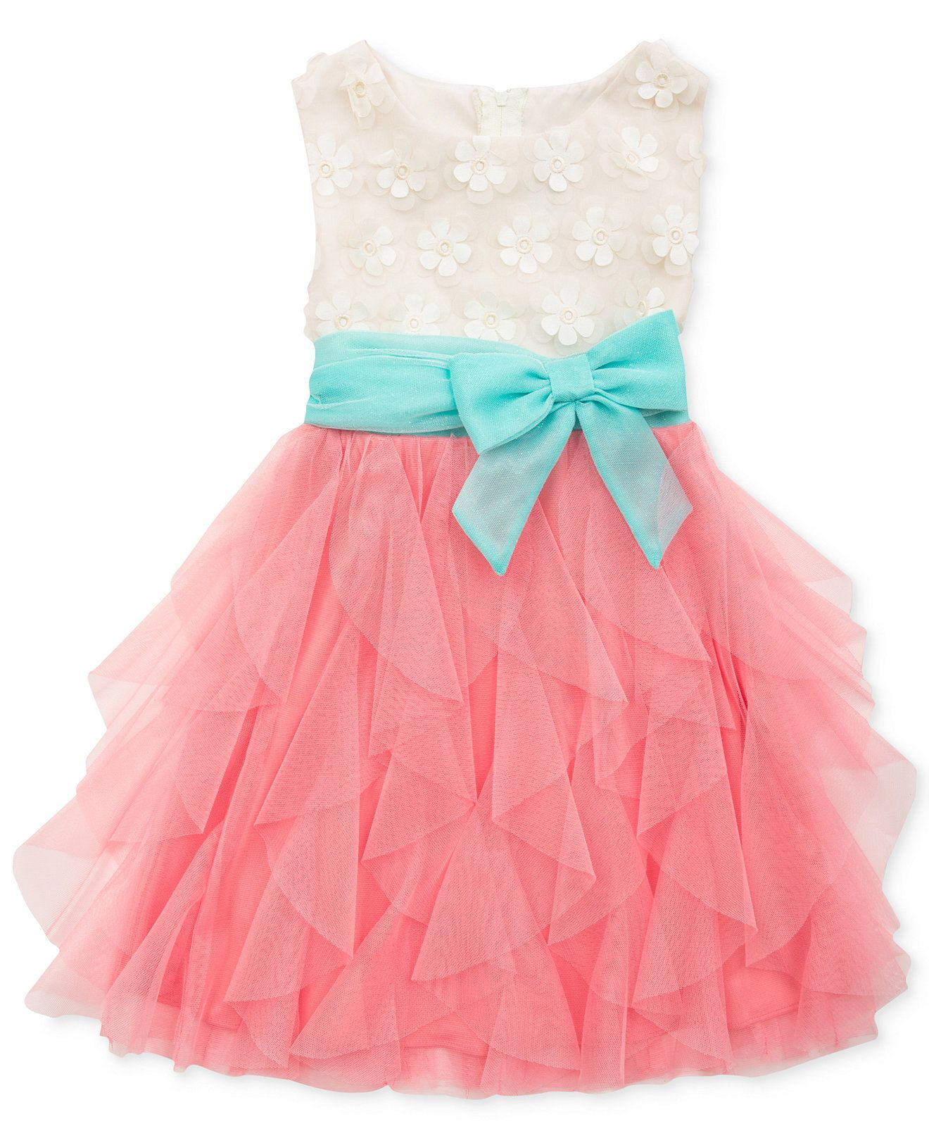 Rare Editions Little Girls\' Lace-to-Ruffle Dress - Kids Girls ...