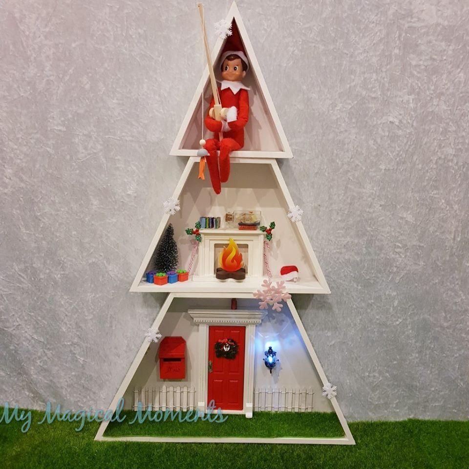 Super Easy Kmart Christmas Tree Box Hack 2 Christmas Tree Box Kmart Christmas Trees Elf House