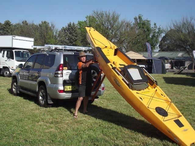 Loading a Hobie Pro Angler using the StrongArm Kayak Loader