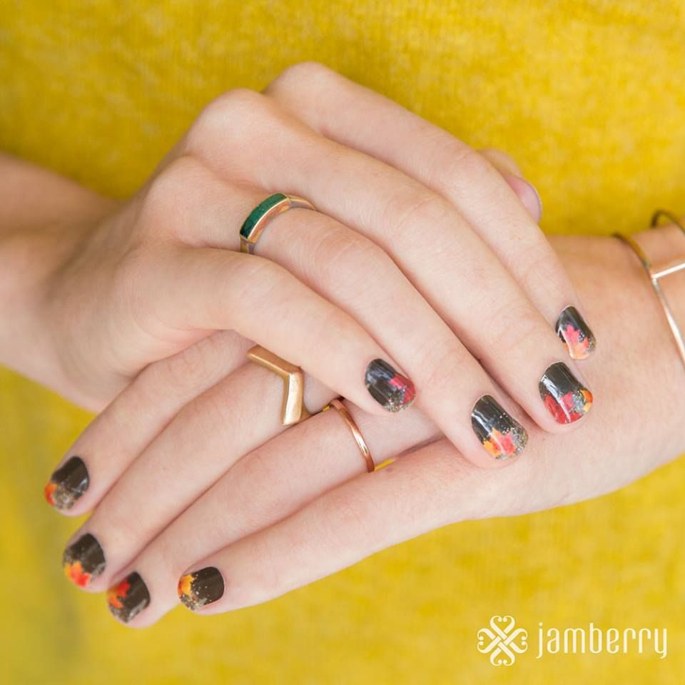 Fall Nails / Jamberry Fall Splendor Fall Nail Art | Nails ...