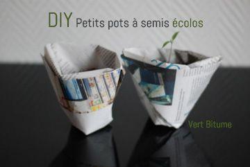 DIY petits pots ecolos