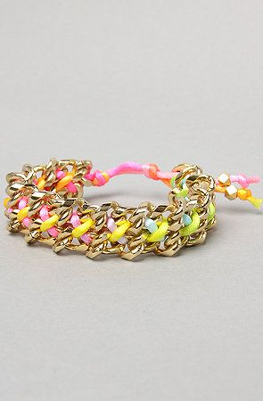 The Satin Cord Double Chain Bracelet