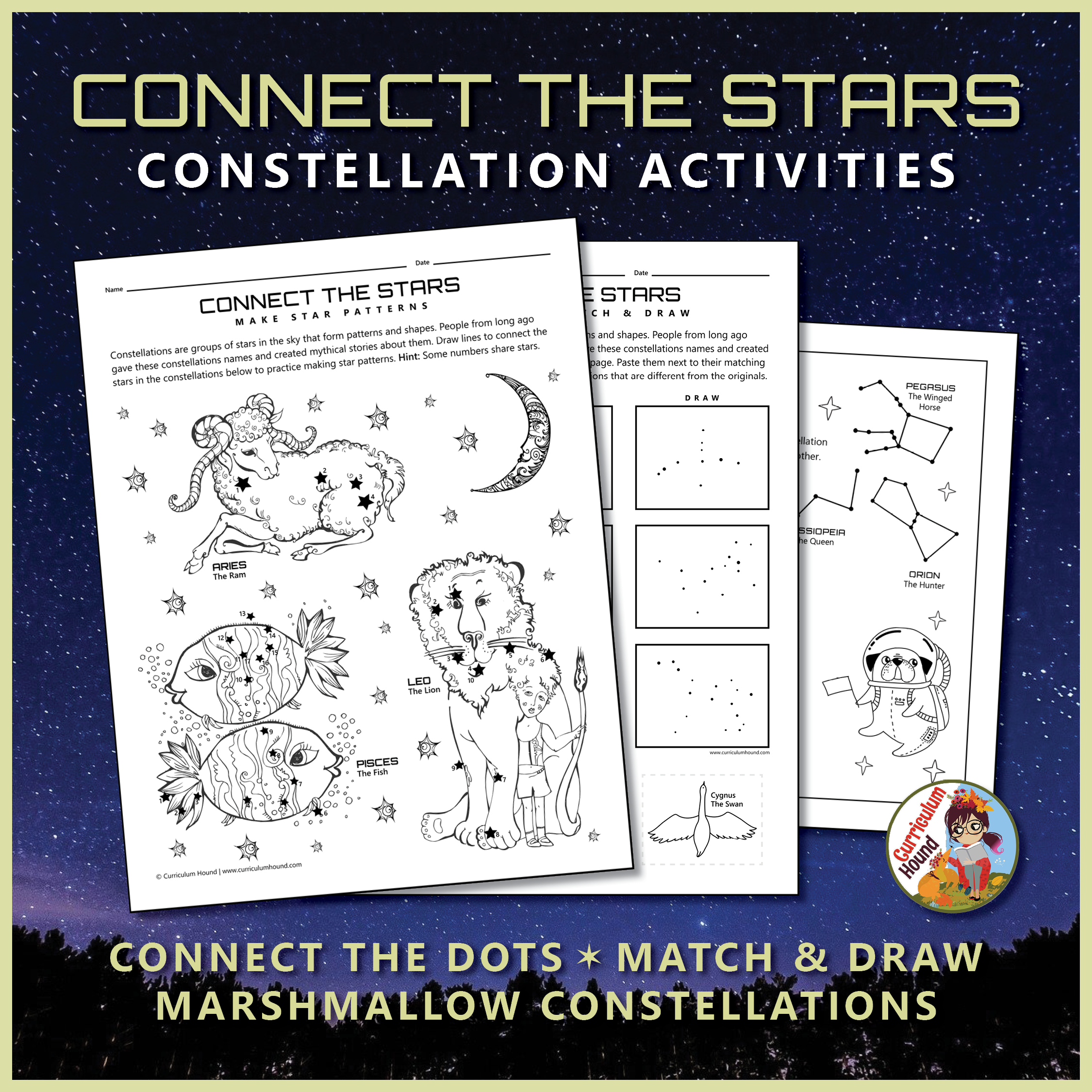 Stars And Constellations Activities Worksheets Constellation Activities Constellations Activities [ 2250 x 2250 Pixel ]