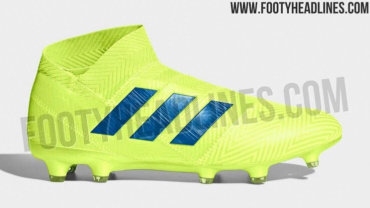 sports shoes 7a5e3 507c2 Exclusive   Solar Yellow  adidas Nemeziz 18+ 2019 boots leaked