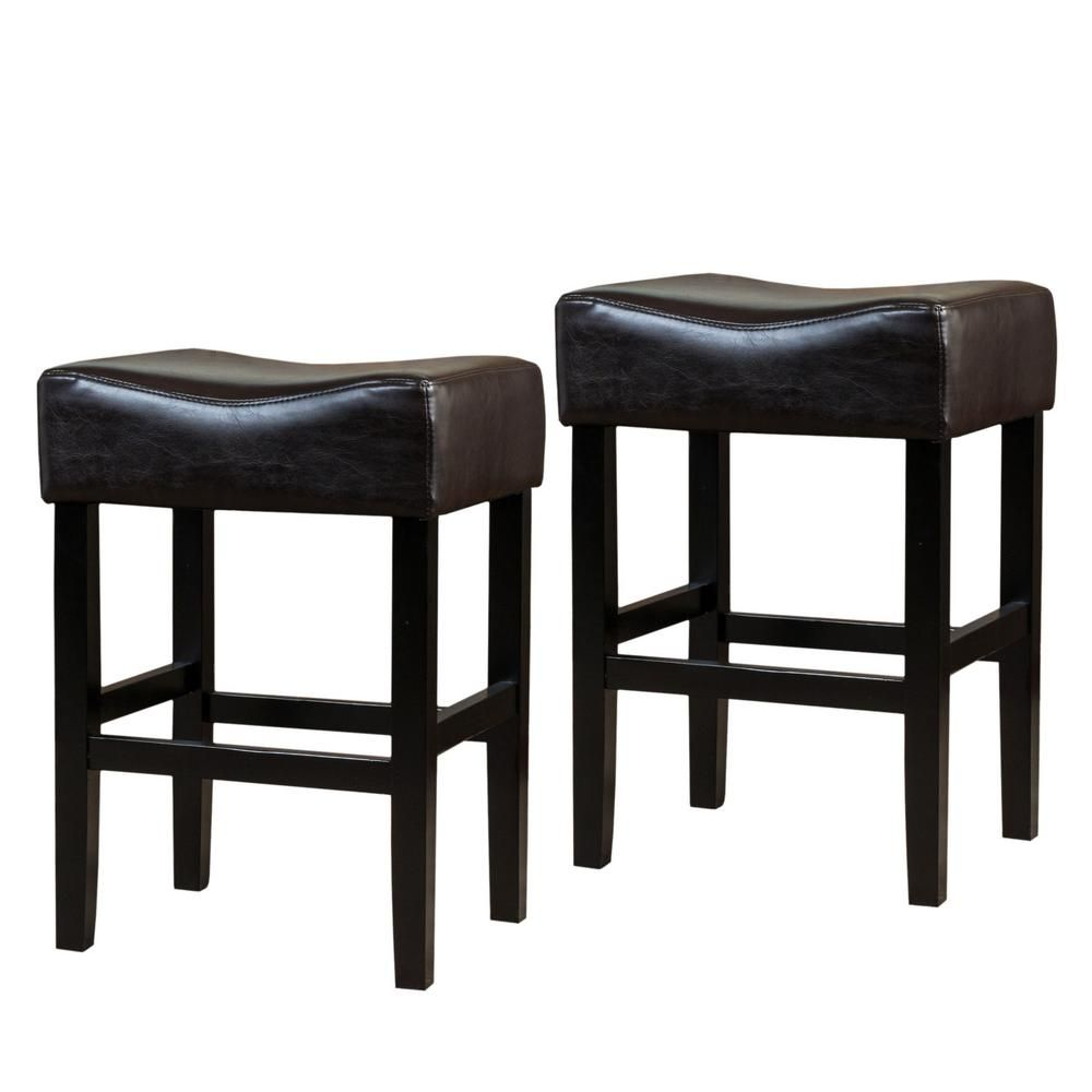 Noble House Portman 26 In Brown Backless Counter Stools Set Of 2