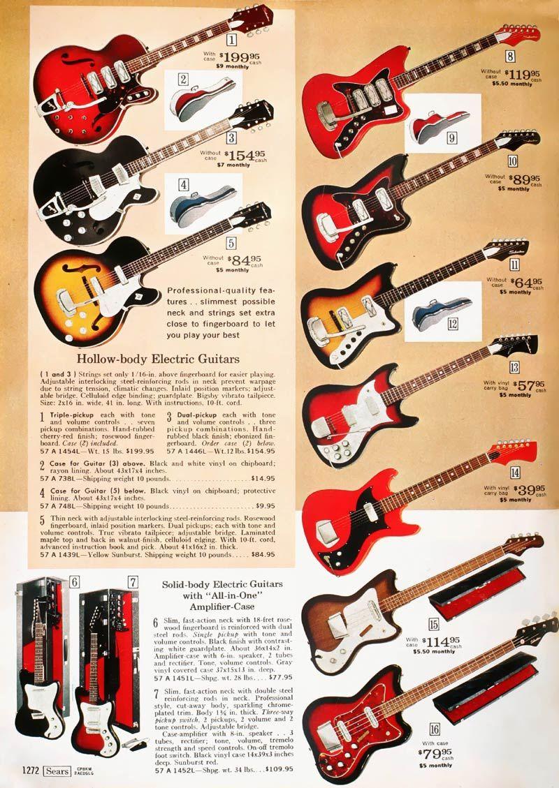 Silvertone Brand Electric Guitars Sears Catalog 1967 R Thewaywewere Vintage Guitars Guitar Classic Guitar